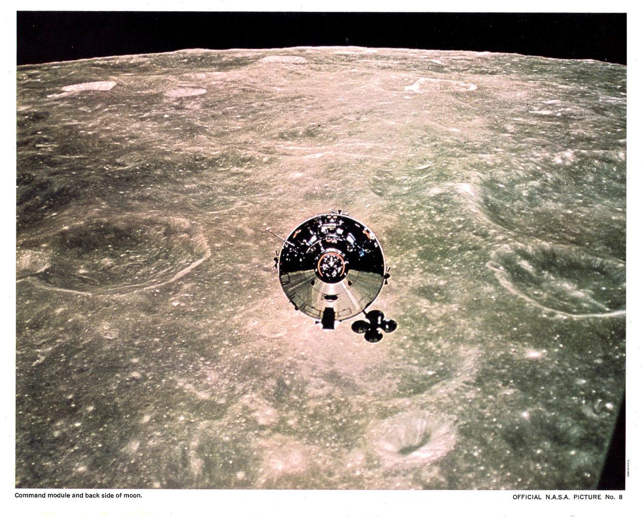 Primary image for N.A.S.A. Picture #8 Command Module and back Side of moon  Official