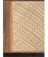 Handcrafted Bamboo and handmade Paper Page mounted  Photo Album   - $14.88