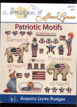 Patriotic Motifs (cross stitch patterns) - $1.88
