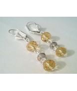 Classy Topaz Swarovski Crystal Dangle Earrings  - $10.99