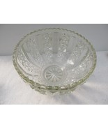 "Very Nice Vtg Large Cut Glass 12"" Punch Fruit Bowl With 12 Cups Beautifu... - $28.83"