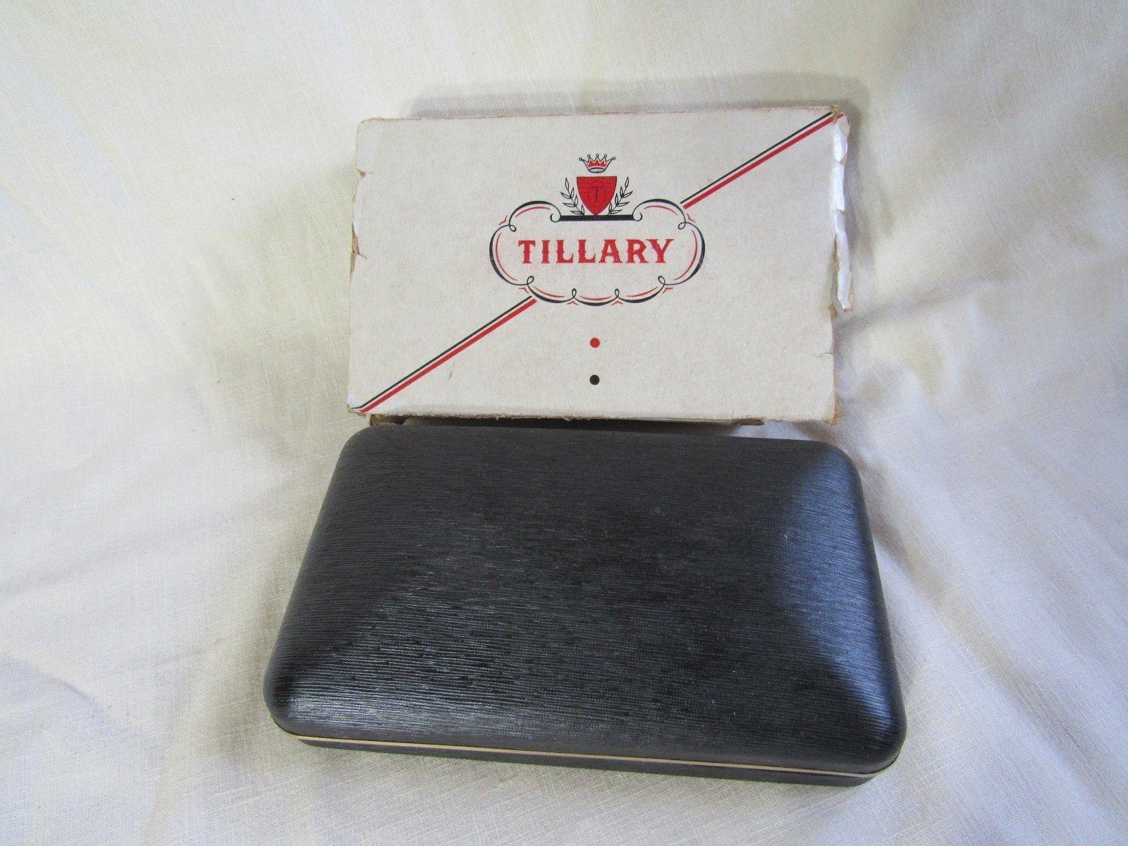 VTG Tillary Original Gift Set Tie Bar Clip Cuff Links Pen & Pencil Set NOS