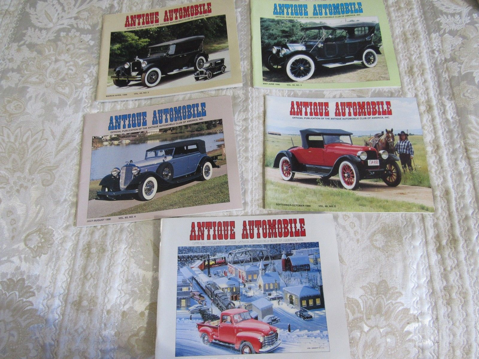 Antique Automobile Magazine 5 Issues 1996  VOL. 60 AACA Car Club