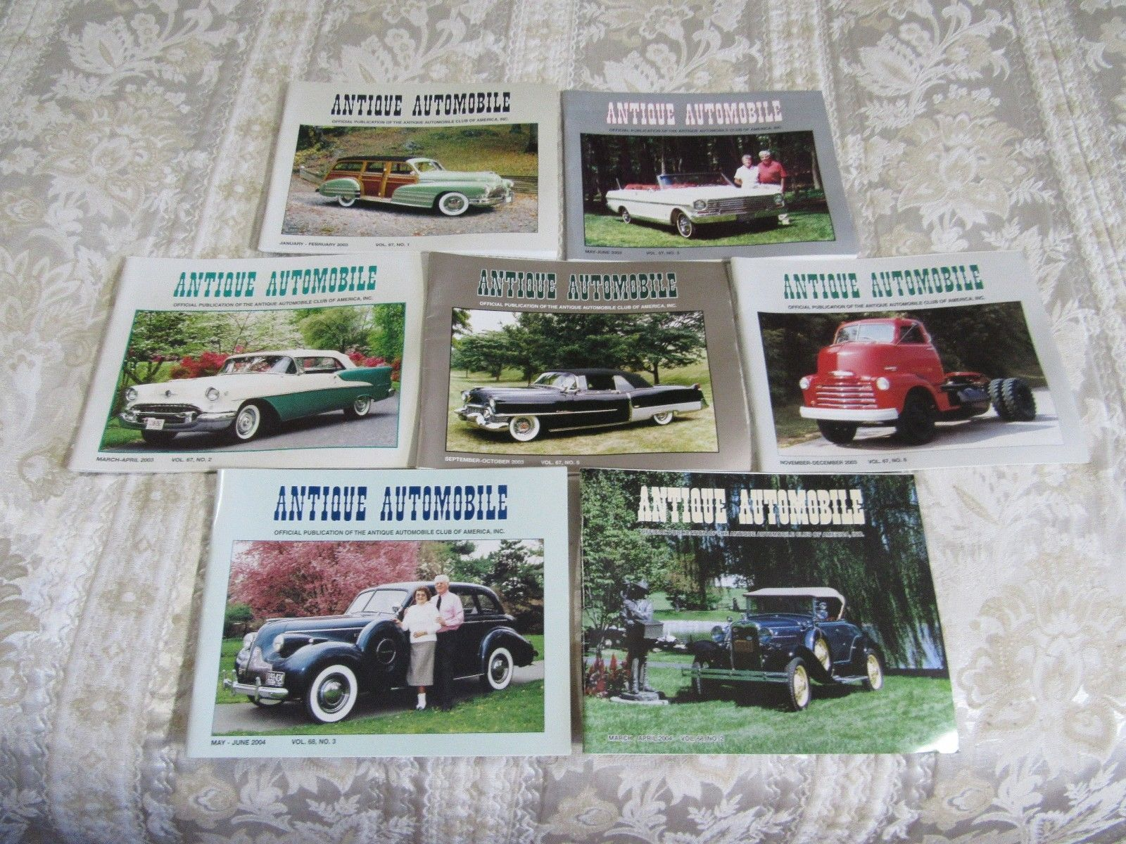 Antique Automobile Magazine 7 Issues 2003/4  VOL. 67 68  AACA Car Club Mixed Lot