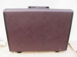 Samsonite Classic Laureate Brown Hard Shell Briefcase Attache with Combi... - $29.69
