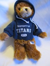 "Tennessee Titans 14"" Plush Hoodie Teddy Bear Good Stuff - $8.90"