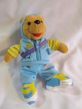 Commemorative  2004 Winnie The Pooh Jogger Disney World Bean Bag Plush Doll - $11.80