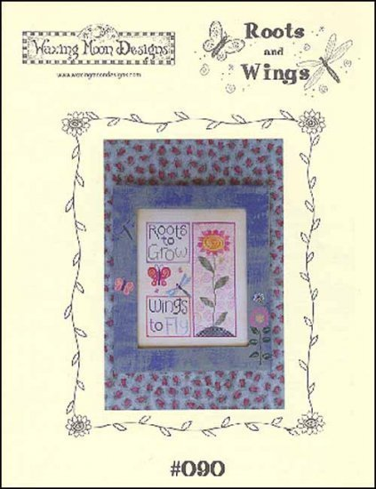 Roots and Wings spring cross stitch chart Waxing Moon Designs