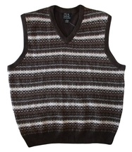 Jos. A. Bank Size XL Mens Brown Multi-Color Sweater Vest - $35.99