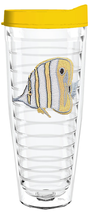 Angel Fish Yellow  Tritan Insulated Tumbler With Lid - $12.99+