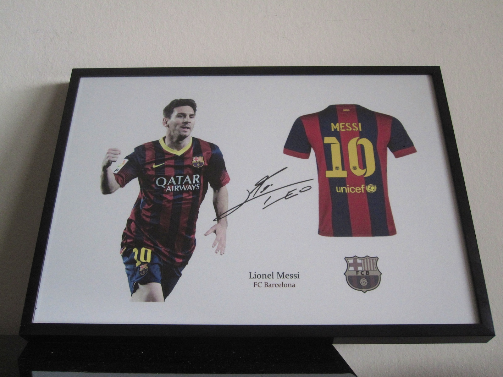 Lionel Messi FC Barcelona signed - Jersey - Soccer - FCB - RP autograph