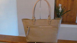 Authentic Cole Haan Antonia East West Tote Shoulder Bag Leather Mushroom Taupe - $158.39