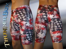 Thunderbox Nylon Spandex Mens Womens Americana Jammer Shorts  S, M, L, XL - $25.00