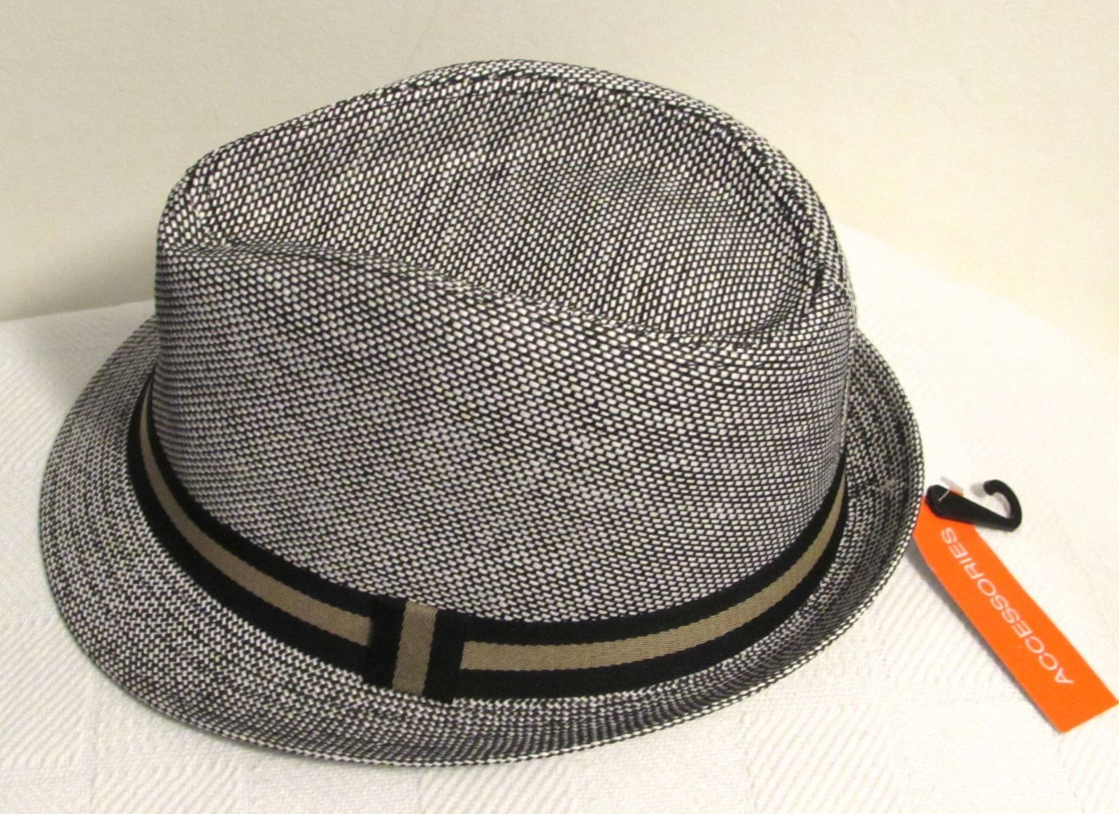 COLOMBINO HEADWEAR Young Men's Two-Tone Banded Woven Fedora SM/MED