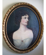 Antique Oval Oil Painting, Early 1800's, Large Realism Portrait, Reseller - $1,385.01