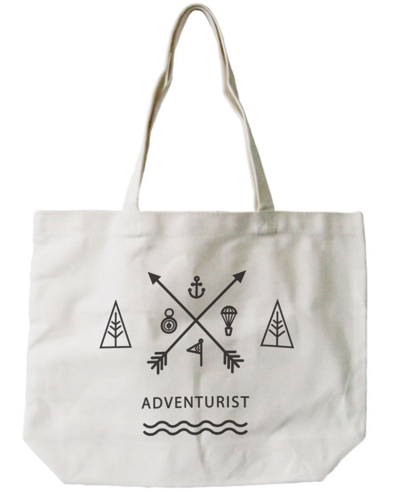 Adventurist Canvas Tote Bag - 100% Cotton Eco Bag, Shopping Bag, Book Bag