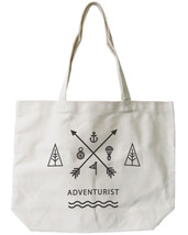 Adventurist Canvas Tote Bag - 100% Cotton Eco Bag, Shopping Bag, Book Bag - $15.99