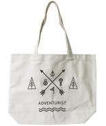 Adventurist Canvas Tote Bag - 100% Cotton Eco Bag, Shopping Bag, Book Bag - $15.99
