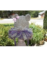 NEWBORN BABY GIRL CUB LION HAT WITH MULTI-COLOR PURPLE MANE - $15.00