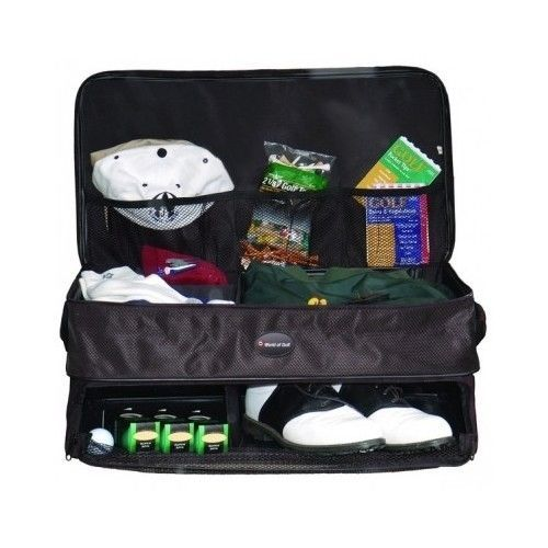Sports Suitcase Golf Bag Supply Trunk Organizer Double Layer Shoe Accessory Tee