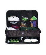 Sports Suitcase Golf Bag Supply Trunk Organizer Double Layer Shoe Access... - £33.64 GBP