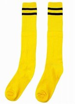 Breathable Football/ Basketball Socks Knee High Socks For Kids, Yellow - $9.91