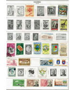 84 Columbia 1959-1977 stamps - $7.91