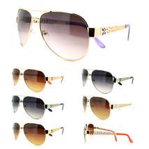 Women's Flower Jewel Fashion Metal Aviator Sunglasses New (6 Colors) - $7.87+