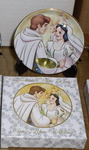 Disney  Snow White & Prince Wedding Porcelain 3 inch Plate - $52.99