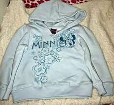 Minnie Mouse Toddler Hoodie Size 24 Months Sparkly Blue - $8.00