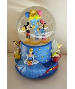 Walt's 100th Disney Snow Globe Music Box Mickey Tinkerbell Cinderella Ha... - $49.95