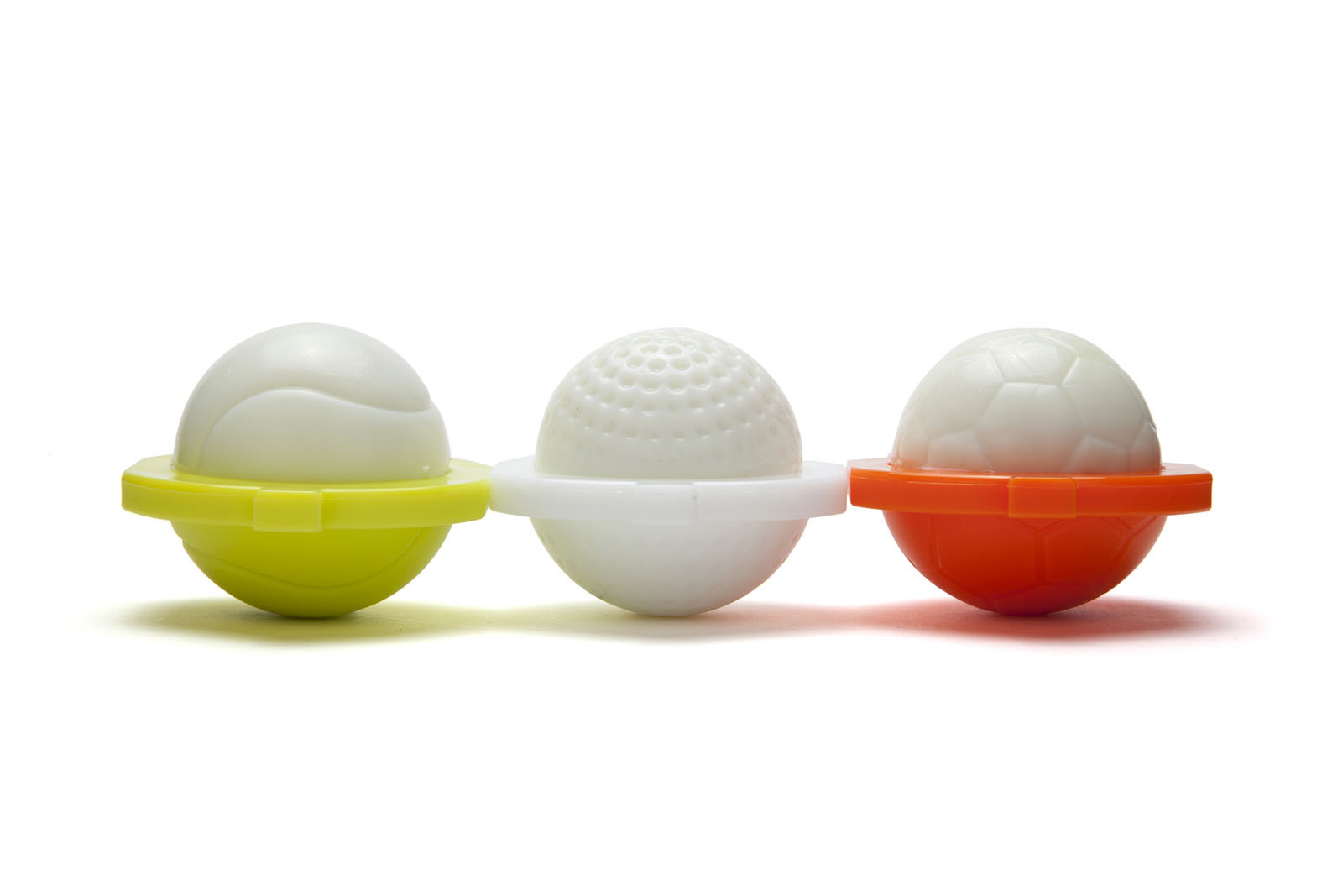 Kids Funky Gift Egg Shapers Set Design Breakfast Chef Golf Tenis FootBall Sports