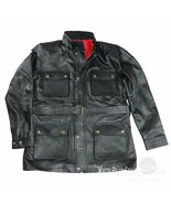 Nuovo Giacca pelle per Uomo Nero Motocicletta Panther Benjamin Cintura B... - $199.58+