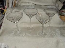 Vintage 1980s 4 Tall Martini Glasses - $39.60