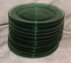 "11 Bright Green Depression FRY Glass 6"" Dessert... - $132.00"