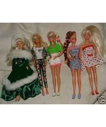 5 1990s BARBIE Dolls with Clothes Accessories Ice Skates Holiday Cowgirl... - $60.00