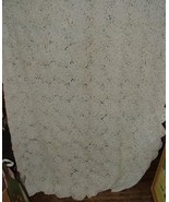 Antique White Double Bed Spread Coverlet Hand Crochet 72x96 8 Pointed St... - $475.00