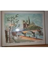 2 Ray Pierlot 1950s Paris Retro Modern Laminated Print Place Concorde No... - $245.00