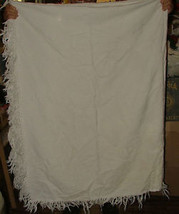 ANTIQUE Marcella Marseillaise White on White Woven Bedspread Coverlet 70... - $325.00