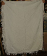 ANTIQUE Marcella Marseillaise White on White Woven Bedspread Coverlet 70... - $325.00