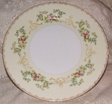 MEITO FLORA Bread & Butter Plate Elegant Hand Painted Porcelain Japan 1950s - $4.95