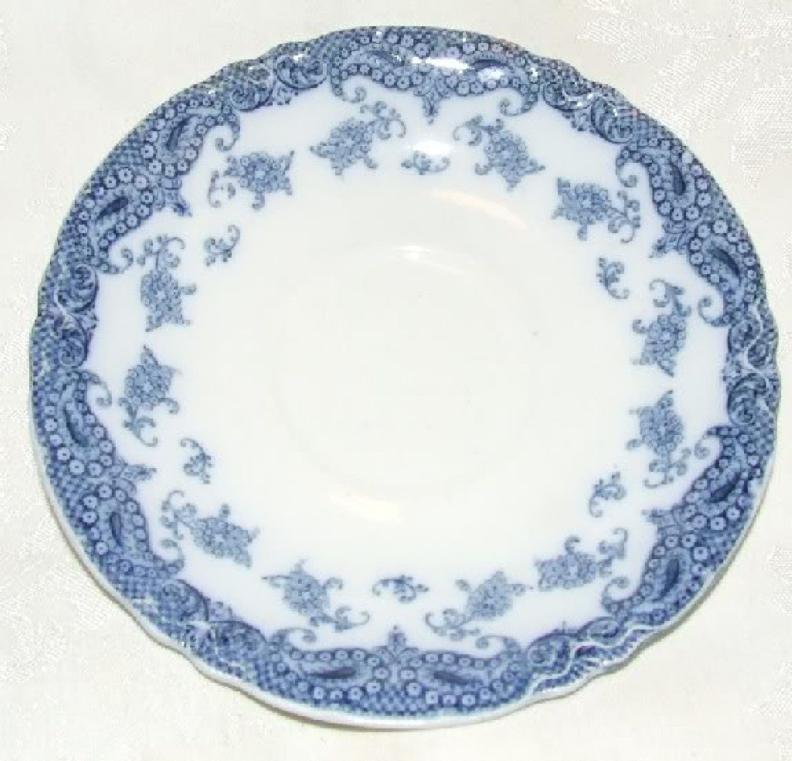 ANTIQUE 1907 MEAKIN OLYMPIA Flow Blue SAUCER Staffordshire 3 Available - $10.00