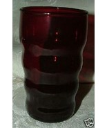 """5 Anchor Hocking Royal Ruby Red Rippled 3 3/4"""" Flat Juice Glasses - $60.00"""
