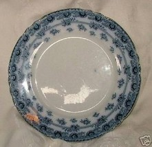 Antique c1892 Bourne & Leigh ERIE Staffordshire Flow Blue Plate - $25.00