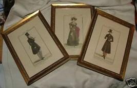 3 Vintage 1970-80s Framed Costume Prints 1821-23 Grafiche Tassotti Venic... - $60.00