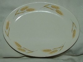 Unknown Maker WHEAT Oval Gravy Boat Liner Underplate Cream w/ Gold - $10.00