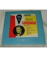 1950s LP Big Band Swing Record This is Benny Goodman & his Quartet - $10.00