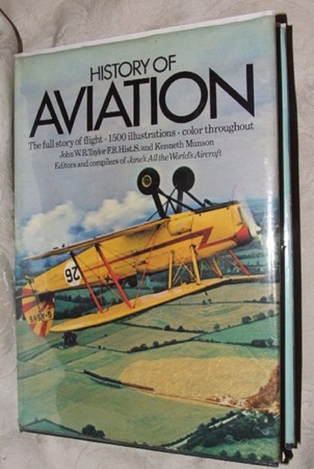 Primary image for 1975 Reprint History of Aviation Taylor & Munson Profusely Illustrated Crown Pub