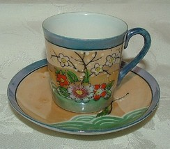 Set of 8 LOVELY 1920s Japanese Lustre Demitasse Cups & Saucers JAPAN Lus... - $79.20