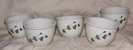 5 Cordon Bleu BIA Frieda Collection Flat Custard Cups Hand Decorated Pat... - $90.00
